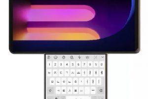 Montagem mostrando como seria o suposto celular Wing da LG